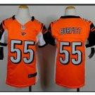 Youth kid Bengals #55 Vontaze Burfict football jersey orange