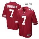 Youth kid San Francisco 49ers #7 Colin Kaepernick Football jersey red
