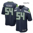 Youth Seattle Seahawks #54 Bobby Wagner stitched jersey navy blue