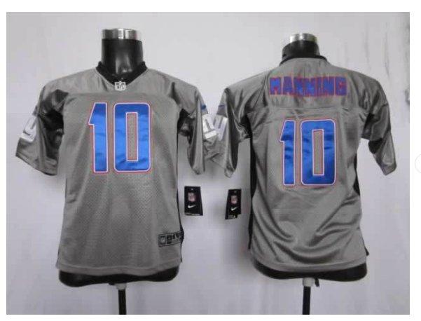 Youth New York Giants #10 Eli Manning Jersey grey
