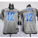 Youth Indianapolis Colts #12 Andrew Luck Gray Football jersey
