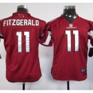 Youth kids Cardinals #11 Larry Fitzgerald Football jersey red