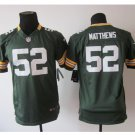 Youth Packers #52 Clay Matthews Stitched Football jersey green