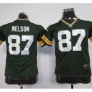 Youth kdis Green Bay Packers #87 Jordy Nelson Football jersey