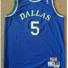 Men's Dallas Mavericks #5 Jason Kidd Jersey Blue Throwback New-FREE SHIPPING