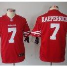 Youth kids San Francisco 49ers #7 Colin Kaepernick red jersey
