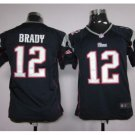 Youth Patriots 12 Tom Brady stitched jersey navy
