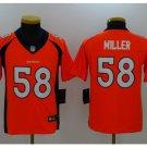 Youth Denver Broncos #58 Von Miller stitched jersey orange