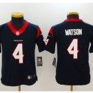 Youth kids Houston Texans #4 Deshaun Watson navy Football jersey