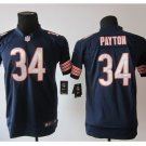 Youth kids Bears #34 Waltor Payton navy stitched football jersey
