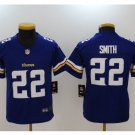Youth kids Vikings #22 Harrison Smith stitched football jersey blue
