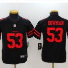 Youth kids 49ers #53 Navorro Bowman stitched football jersey