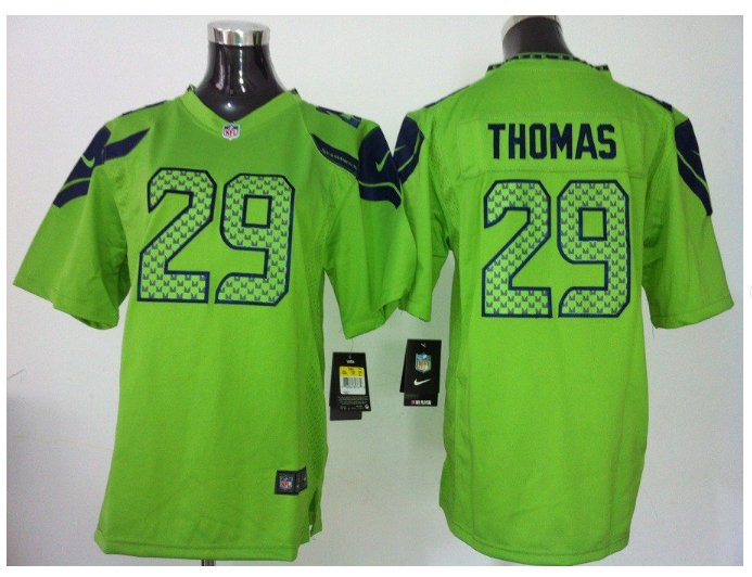 Youth Seattle Seahawks #29 Earl Thomas stitched Football jersey green