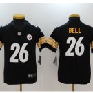YOUTH LeVeon Bell Pittsburge Steelers #26 BLACK football jersey