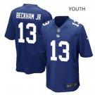 Youth kids Giants #13 Odell Beckham Jr stitched Football Jersey blue
