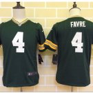 Youth kids Packers #4 Brett Favre green Stitched Football jersey