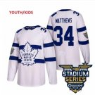 Youth Boys Toronto Maple Leafs #34 Auston Matthews Ice Hockey Jersey white