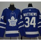 Men's Toronto Maple Leafs #34 Auston Matthews Ice Hockey Jersey blue