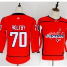 Youth Washiontal Capitals 70 Braden Holtby Hockey Jersey red