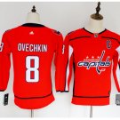Youth Washiontal Capitals 8 Alex Ovechkin Hockey Jersey Red