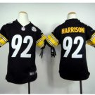 Youth kids Steelers #92 James Harrison Stitched Football jersey black