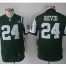 Youth New York Jets #24 Darrelle Revis football jersey green kids