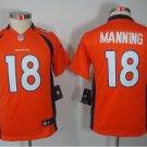 Youth Broncos #18 Peyton Manning Football jersey orange