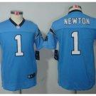 Youth Carolina Panthers #1 Cam Newton jersey kid