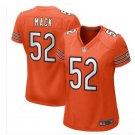 Women's Khalil Mack chicago bears jersey orange