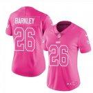 women's New York Giants #26 Saquon Barkley Pink fashion jersey