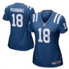 Women's Indianapolis Colts #18 Peyton Manning Royal Retired Game Jersey