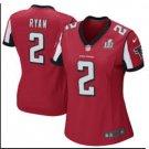 Women's Atlanta Falcons #2 Matt Ryan Red Limited football Jersey