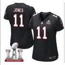 Women's Atlanta Falcons #11 Julio Jones game football jersey black