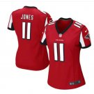 Women's Atlanta Falcons #11 Julio Jones game football jersey red