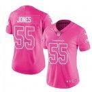 Women's Arizona Cardinals #55 Chandler Jones pink fashion jersey