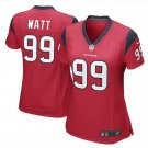 Women's Houston Texans #99 JJ Watt Red Game football Jersey