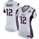 Women's New England Patriots #12 Tom Brady Football Super bowl jersey