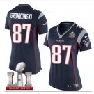 Women's New England Patriots #87 Rob Gronkowski Limited Team Color Jersey