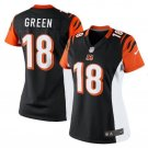 Women's Bengals #18 Aj Green mens game Football jersey black