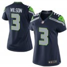 Women's Seattle Seahawks #3 Russell Wilson College Navy Game football Jersey