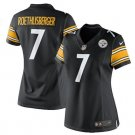 Women Pittsburge Steelers #7 Roethlisberger jersey black