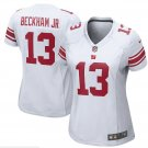 Women's NY Giants #13 Odell Beckham Jr game Jersey white