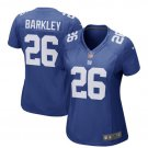 Women's New York Giants #26 Saquon Barkley Royal 2018 Draft Pick Game Jersey