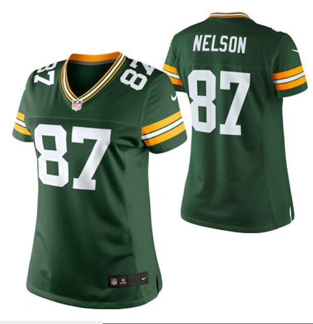 Women's Green Bay Packers #87 Jordy Nelson Green Limited football Jersey
