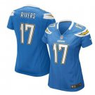 Women's Los Angeles Chargers #17 Philip Rivers Light Blue Game football Jersey
