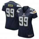 Women Los Angels Charges #99 joey Bosa game Football jersey navy blue