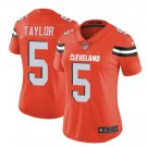 Women's Cleveland Browns #5 Tyrod Taylor football jersey orange