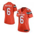 Women's Cleveland Browns 6 Baker Mayfield Jersey orange