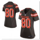 Women's Cleveland Browns #80 Jarvis Landry game jersey brown