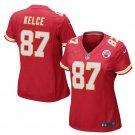 Women's Kansas City Chiefs #87 Travis Kelce Red Game football Jersey